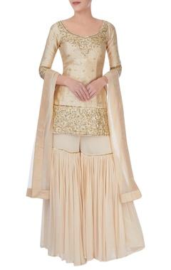 Esha Koul Off white embellished sharara set
