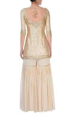 Off white embellished sharara set