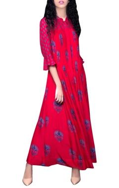 Hot pink maxi dress