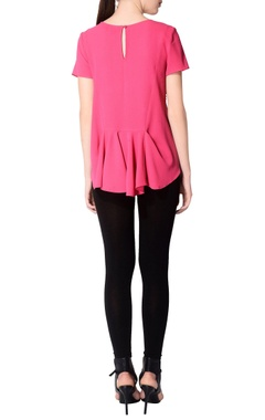 Fuchsia pink embroidered top