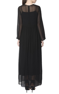 black maxi with embellishments