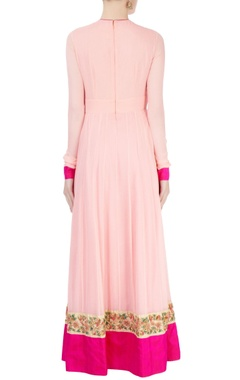 light peach kurta set with dori work