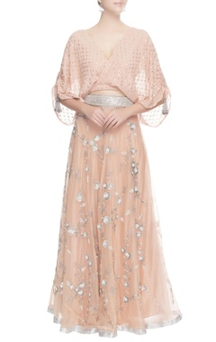 Seema Khan Peach sequin embroidered lehenga