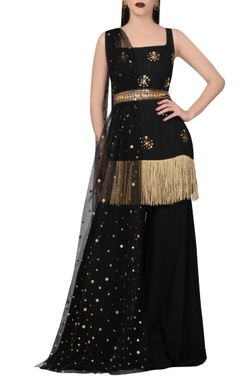 Black & gold kurta set