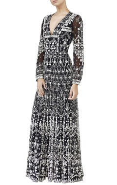 Anita Dongre Black embroidred mirror work gown