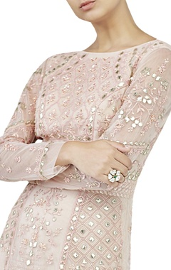 blush embellished gown