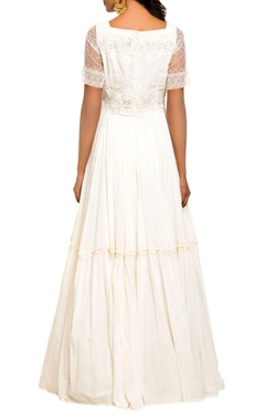 Ivory peasant style gown