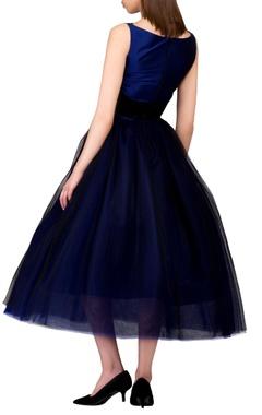 blue bouffant style dress