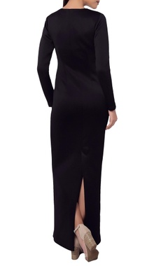 Black crescent moon maxi dress
