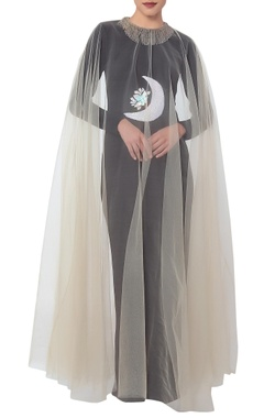 White crescent moon cape