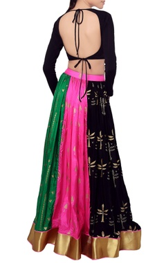 Multi colored lehenga & blouse