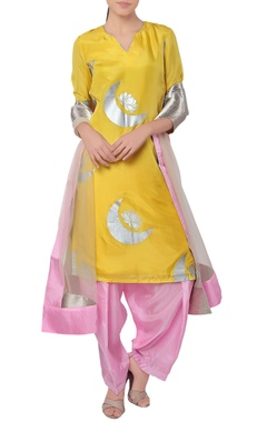Yellow & pink kurta set
