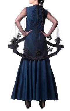 teal blue mermaid style gown