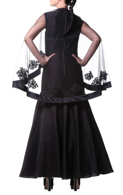 Black gown with cape