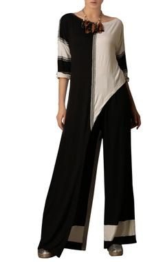 Black & white asymmetric top
