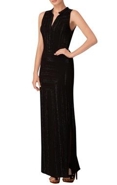 Black long summer dress