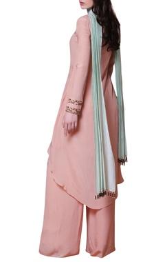 Pink embroidered kurta & palazzos