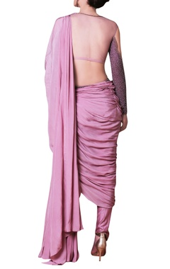 Purple embellished sari