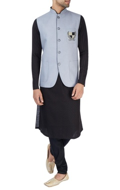 Powder blue Nehru jacket