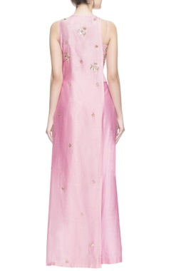 pink mukaish embroidered kurta set