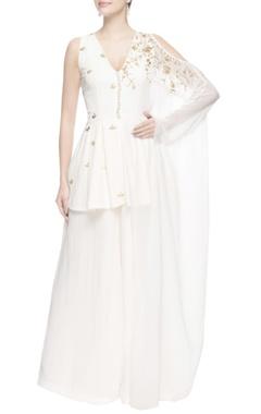 White peplum style kurta