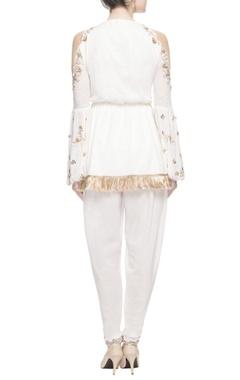 White peplum style kurta.