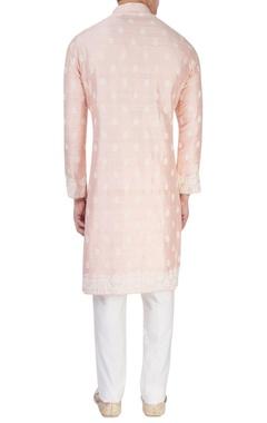 Pink embroidered long kurta