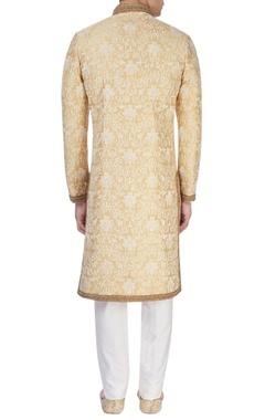 Light gold embroidered sherwani