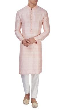 Pink silk long kurta