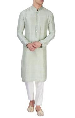 Pista green silk kurta