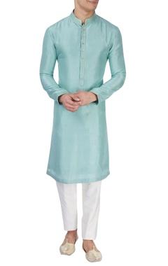 Light blue silk kurta
