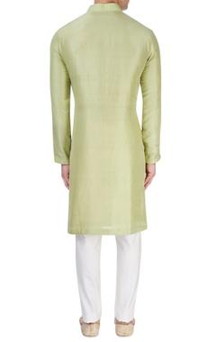 Light green silk kurta