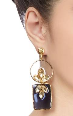 Gold plated crystal stud earrings