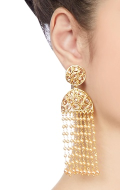 gold plated jhalar earrings
