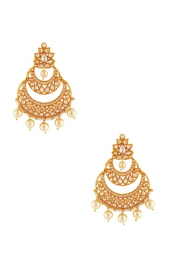 Shilpa Purii Gold diamante baala earrings