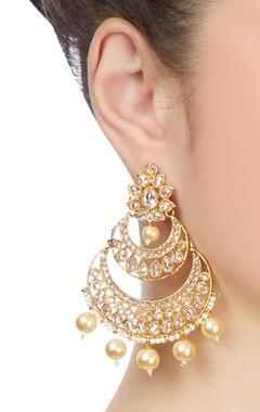 gold diamante baala earrings