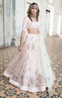 Prathyusha Garimella Pastel pink lehenga set