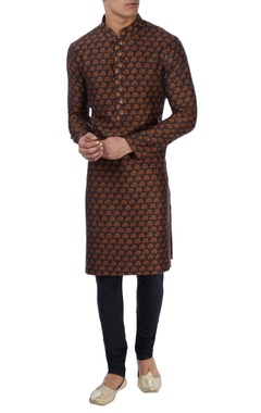 Black tree print kurta set