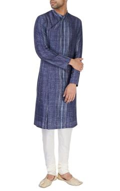 Dark blue printed kurta