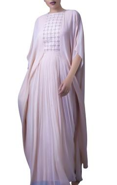 Blush pink kaftan dress