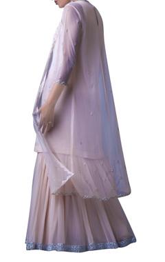 blush pink double layered dress with jacket