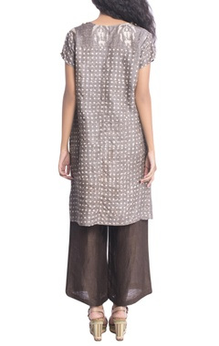 Brown batik print tunic