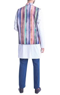 Multicolored stripe nehru jacket