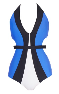 Blue cutout swimsuit