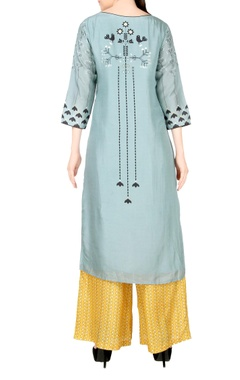 Light blue kurta with palazzos