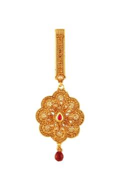 Gold plated sari waist keychain