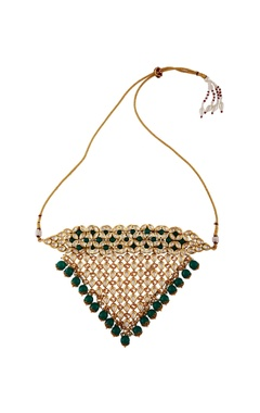 Gold plated triangular necklace & earrings