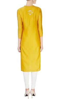 Mustard yellow silver sequin tunic
