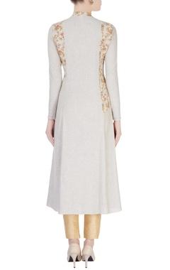 Brown & beige floral print dress
