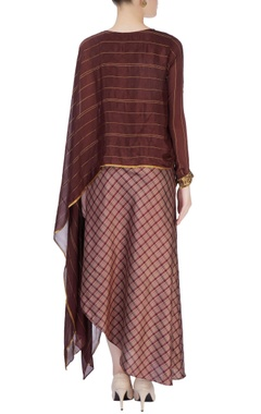 Dark brown draped tunic